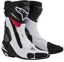 Мотоботы Alpinestars S-MX Plus Vented Black/White/Red