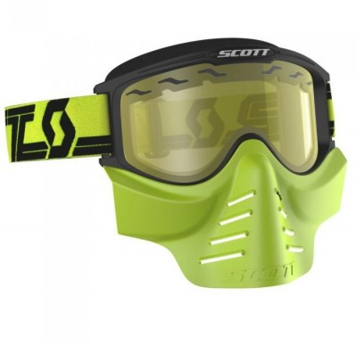 Очки Scott 83X SAFARI FaceMask Black/Yellow/Yellow