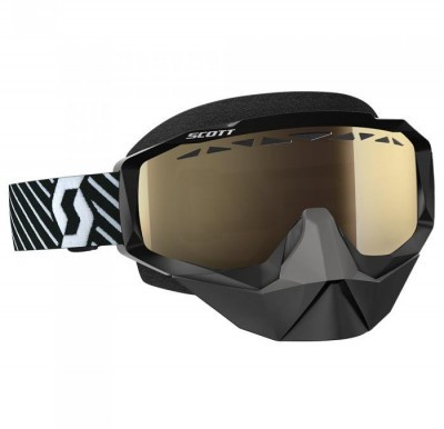 Очки Scott Hustle Snow Cross Black/White Light Sensitive Bronze Chrom