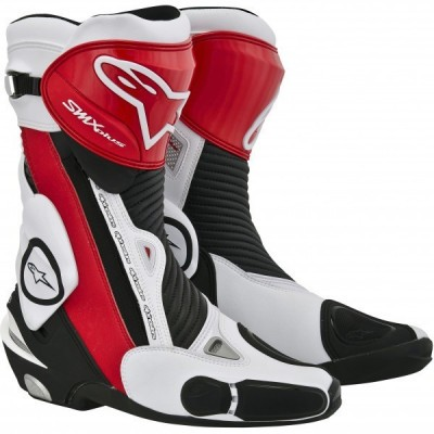 Мотоботы Alpinestars SMX-Plus White/Black/Red