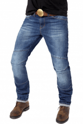Мотоджинсы Starks Python Stretch Slim Fit Синий потёртый Stonewash