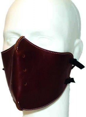 Маска кожаная Baruffaldi Hector Tic Face Mask Brown