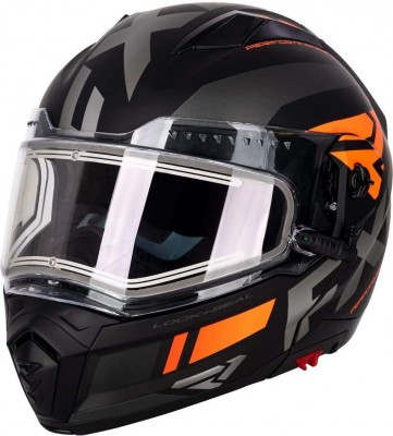 Шлем для снегохода FXR Maverick Modular Team Helmet W/E Shield Black/Char/Orange