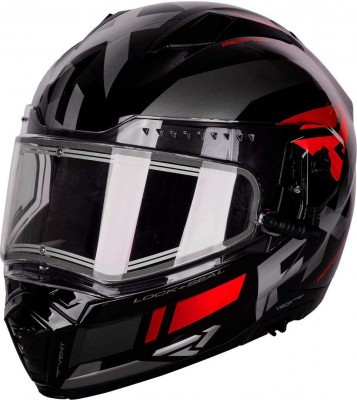 Шлем для снегохода FXR Maverick Modular Team Helmet W/E Shield Black/Char/Red