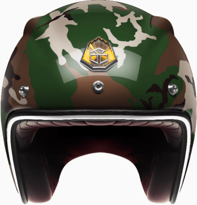 Мотошлем Guang Open Face Camo Classics Glossy