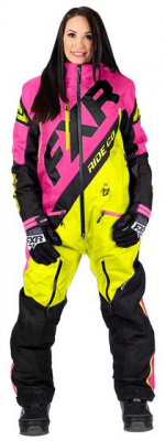 FXR Комбинезон CX INSULATED MONOSUIT WOMAN Hi Vis/Elec Pink/Black