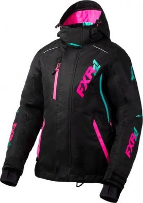 FXR Куртка VERTICAL PRO LADY Jacket Black/Elec Pink/Mint