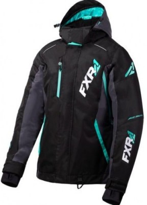 FXR Куртка VERTICAL PRO LADY Jacket Black/Charcoal/Mint
